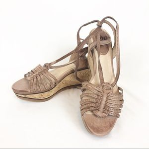 Frye Carlie Strappy Antiqued Leather Sandal 5.5M